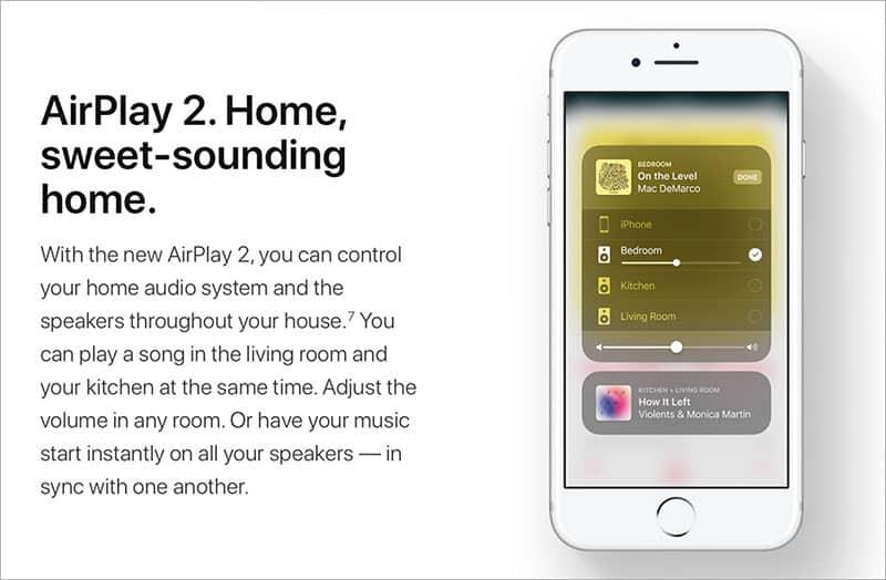 Apple AirPlay 2 อีกหนึ่งทีเด็ดที่มาพร้อมกับ iOS 11