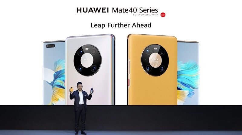 Huawei launch new flagship Mate40 series smartphone packed with advanced techs