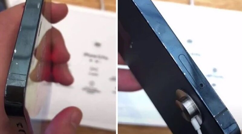 iPhone12 in china Apple Store found paint defect