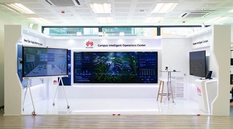 HUAWEI's exhibition at EECI smart workplace concept