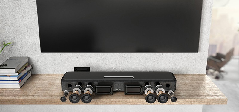 Denon introduce home sound bar 550 featured Dolby Atmos DTS:X and HEOS