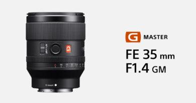 Sony introduce G-master lens FE 35mm f1.4 SEL35F14GM