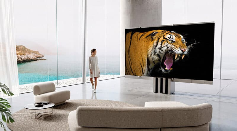 C-Seed M1 world's first high-end foldable MicroLED TV with 165 inches screen