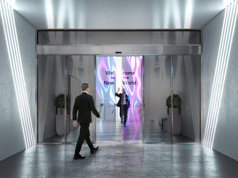 LG introduce transparent OLED for automatic door
