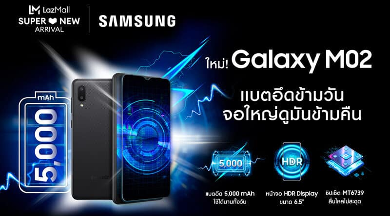 Samsung Galaxy M02 shelf break at Lazada