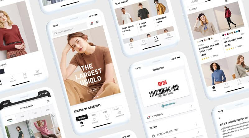 Uniqlo promote new app and website