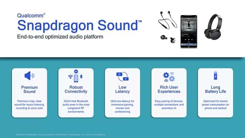 Qualcomm Snapdragon Sound new bluetooth codec allowed stream with 24bit 96kHz resolution