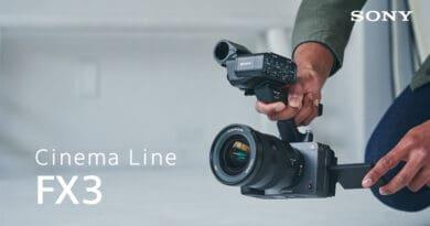 Sony introduce FX3 Cinema Line full-frame camera