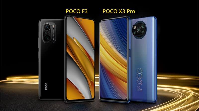POCO F3 POCO X3 Pro price annoucement