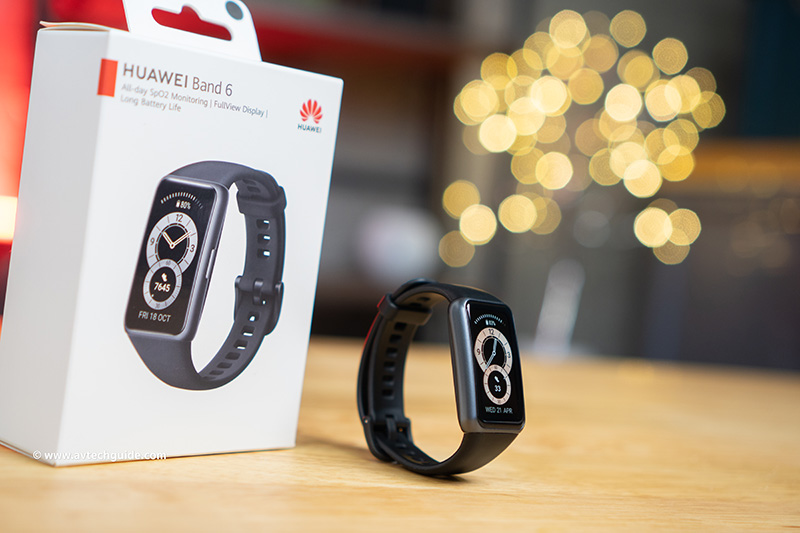 Review HUAWEI Band 6 rich features big display fitness health tracker
