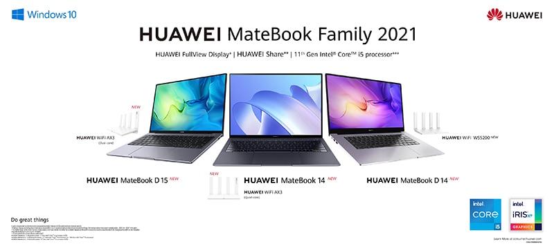 Summary of HUAWEI MateBook Family 2021