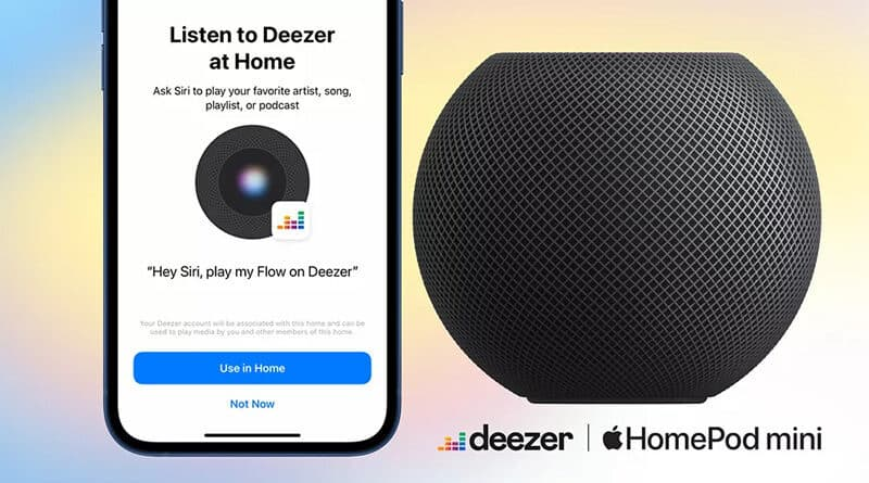 Apple's HomePod and HomePod mini now support Deezer voice control