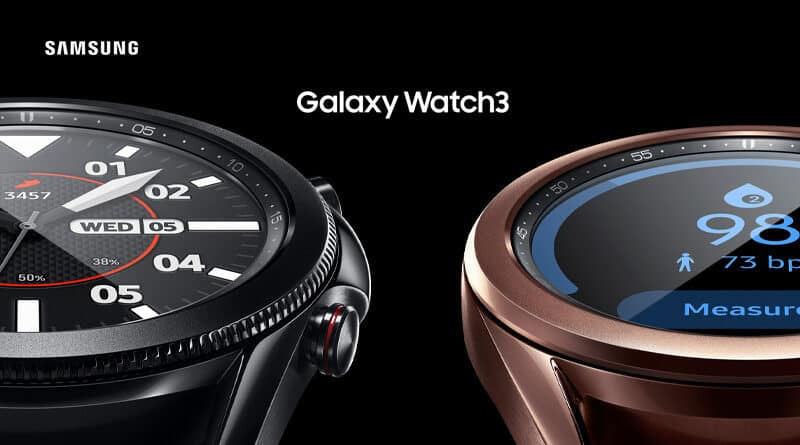 Samsung introduce Galaxy Watch 3 with 5 health features