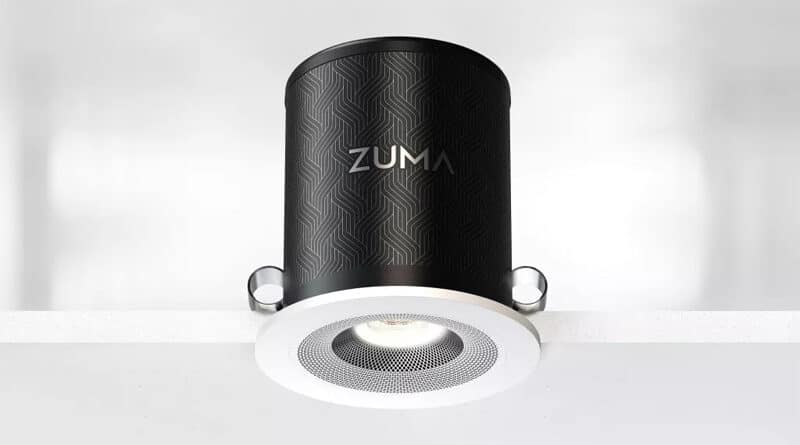 Zuma Lumisonic unveil an ultra compact speaker light from the engineer of Bowers&Wilkins Nautilus