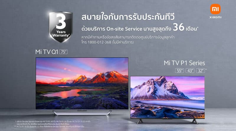 Xiaomi introduces 3 years onsite service and warranty for Mi TV