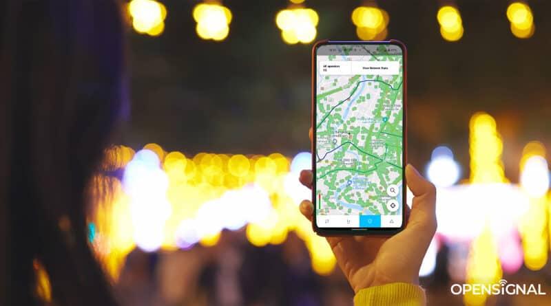 Thailand Bangkok Opensignal 5G map on phone