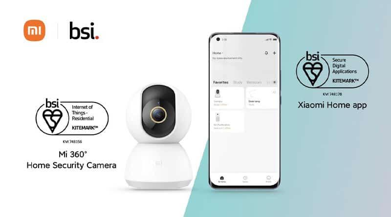 Mi 360 Home Security Camera and Xiaomi Home app gain BSI Security certification