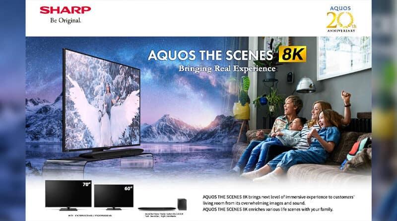 Sharp introduce AQUOS The Scenes 8K tv