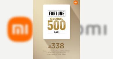 Xiaomi Fortune Global 500 ranked