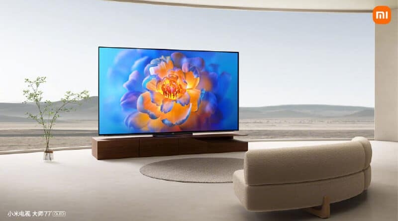 Xiaomi launches the Mi TV Master 77 OLED with 8.2mm thinner than mobile phones