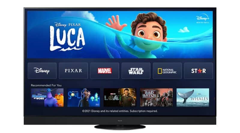 Disney+ is now available on Panasonic TV released from 2017 onwards