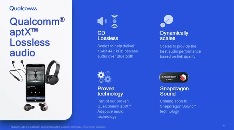 Qualcomm aptX Lossless promised deliver lossless CD quality audio over bluetooth wireless