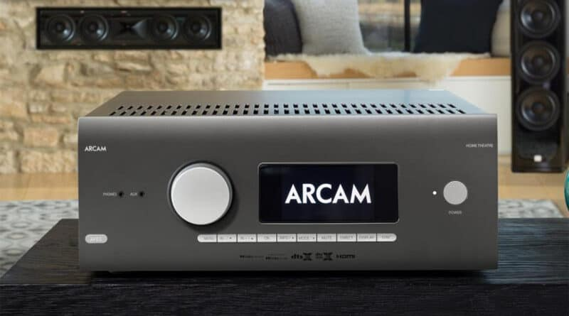 Arcam new AVR5 entry-level AV receiver features Dolby Atmos MQA Roon ready and Dirac Live